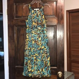 Evan Picone  dress 8p green beige